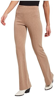 Lysse Lund Baby Bootcut in Ponte Jacquard (Light Camel Diagonal Texture) Women's Casual Pants