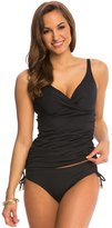 Anne Cole Color Blast Solid Twist Front OTS Underwire Tankini Top (D Cup) 8137578