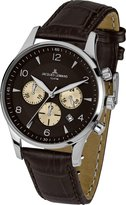 Jacques Lemans London 1-1654D 40mm Stainless Steel Case Leather Mineral Men's Watch