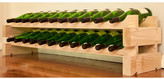 Wine Rack 22 2 Layers of 11 Bottle Width Finish: Natural Pine