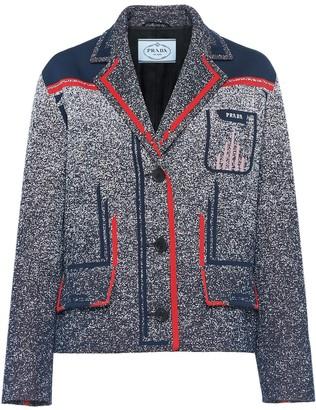 Prada Technical mouliné jacquard jacket