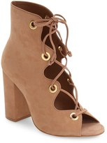 Steve Madden Women's 'Carusso' Lace-Up Peep Toe Bootie