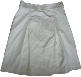 Chanel White Cotton Skirts
