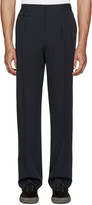 Lemaire Navy Pleated Wide-leg Trousers