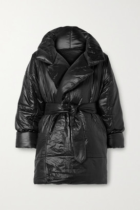 Norma Kamali Sleeping Bag Oversized Belted Shell Coat - Black
