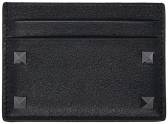 Valentino Black Garavani Rockstud Cardholder