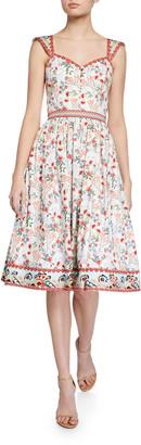 Alice + Olivia Portia Sweetheart Gathered Dress