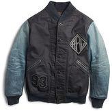Ralph Lauren RRL Leather-Sleeve Cotton Jacket