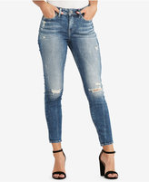 Silver Jeans Co. Mazy Distressed Skinny Ankle Jeans