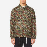 MAISON KITSUNÉ Men's AllOver Camo Fox Foldable Bertil Windbreaker - Multicolor