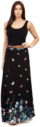 M&Co Izabel butterfly print maxi skirt