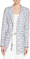St. John Prishna Space Dyed Tweed Knit Jacket