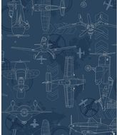 York Wall Coverings York wallcoverings Disney's Planes Blueprint Removable Wallpaper