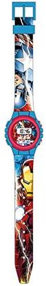 Marvel Unisex-Child Digital Watch with Plastic Strap MV15185