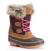 totes Luann Girls' Water-Resistant Winter Duck Boots