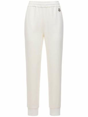 Moncler Cotton Fleece Logo Sweatpants