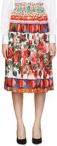 Dolce & Gabbana Multicolor Poplin Maiolica Skirt
