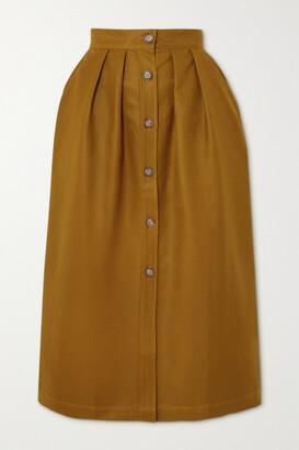 KING & TUCKFIELD Cotton-blend Gabardine Midi Skirt