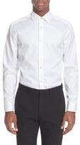 Paul Smith Trim Fit Long Sleeve Bird's Eye Cotton Dress Shirt