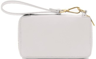 Holly & Tanager Champion Zip Around Leather Wallet In Cream