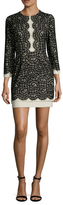 BCBGMAXAZRIA Elyssa Cotton Lace Mini Dress