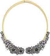Kate Spade Gold-Tone Crystal Hydrangea Collar Necklace