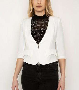 New Look Cutie London 3/4 Sleeve Crop Blazer