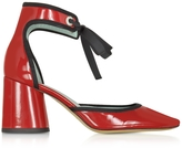 Marc Jacobs Elle Red Patent Leather Ankle Strap Pump