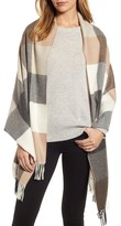 Nordstrom Women's Buffalo Check Cashmere Wrap