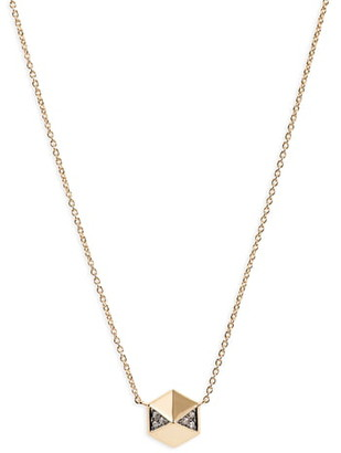 Harwell Godfrey Diamond Pave Hexagon Pendant Necklace