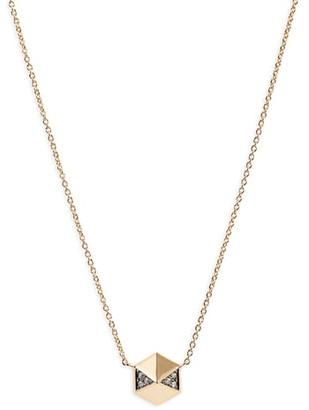 Harwell Godfrey Diamond Pave Hexagon Pendant Necklace