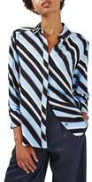 Topshop Women's Diagonal Stripe Shirt