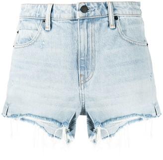 Alexander Wang Bite high-rise denim shorts