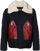 DSQUARED2 contrast pocket coat