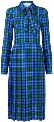 MSGM Plaid Pleated Dress