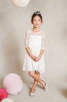 Jenny Yoo 'Annie' Floral Appliqué Lace Dress (Toddler, Little Girls & Big Girls)
