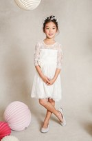 Jenny Yoo Toddler Girl's 'Annie' Floral Applique Lace Dress