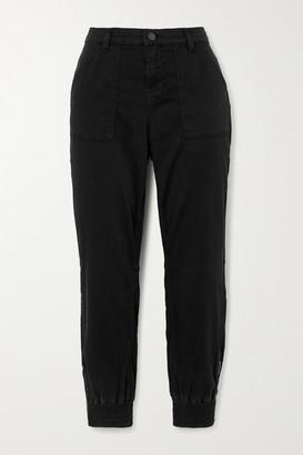 J Brand Arkin Cotton-blend Sateen Track Pants - Black