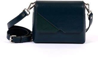 Hiva Atelier Mini Mare Leather Bag Petrol Blue & Forest Green
