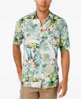 Tasso Elba Men's Water Tropics Floral-Print Short-Sleeve Shirt, Classic Fit, Only at Macy's