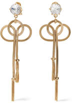 Prada Gold-tone And Crystal Clip Earrings