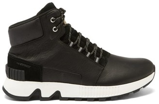 Sorel Mac Hill Leather High-top Trainers - Black