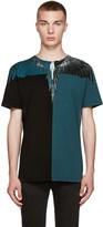 Marcelo Burlon County of Milan Black & Turquoise Laguna Bravas T-Shirt