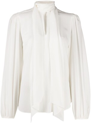 See by Chloe Pussybow Silk Blouse