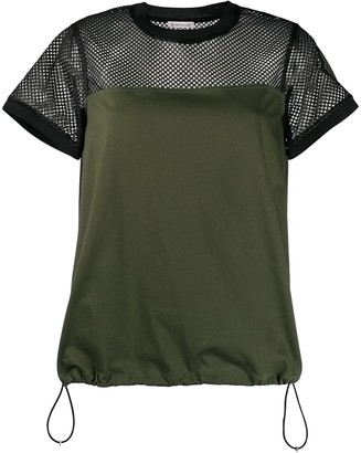 Moncler mesh panel T-shirt