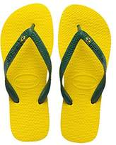 Havaianas Brasil Logo Unisex Adult's Flip Flops, Citrus Yellow, (39/40 Brazilian) (41/42 EU)