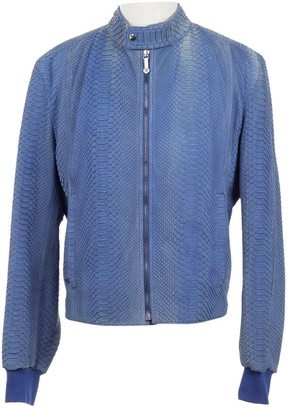 Versace Blue Python Jackets