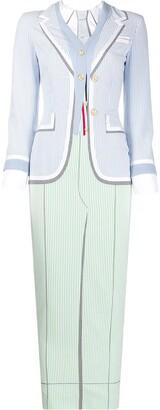 Thom Browne Suit Print Long Dress
