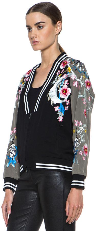 3.1 Phillip Lim Souvenir Coating Embroidered Jacket in Black