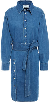 Acne Studios Button-detailed Cotton-chambray Shirt Dress